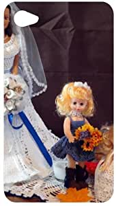 Wedding Dress Dolls Back Cover Case for Apple iPod Touch 4
