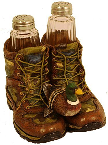 Camo Hunting Boots Salt & Pepper Shaker Set (Wildlife Salt And Pepper Shakers compare prices)