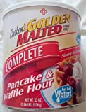 "Golden Malted Pancake & Waffle Flour Mix, Complete - ""Just Add Water"", 33-Ounce Can"