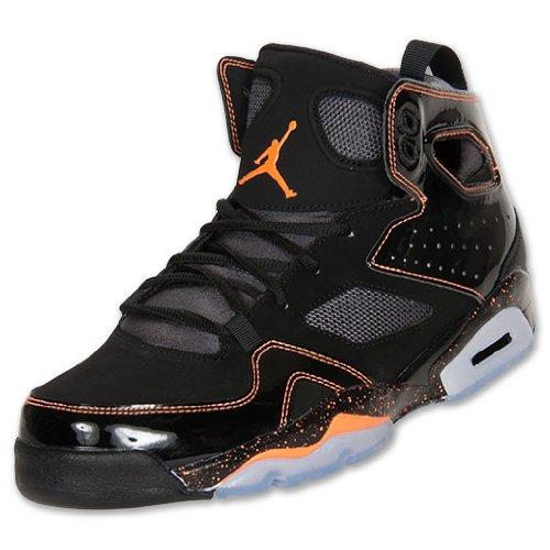 on sale da8c8 cad03 NIKE Men s Jordan Flight Club 91 Basketball Shoes, Black Bright Citrus Dark  Grey Shoes