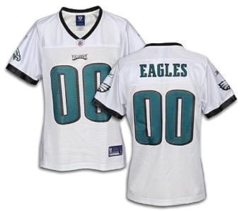 Philadelphia Eagles NFL Ladies Team Replica Jersey, White by Reebok