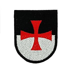 Patch ecusson brodé drapeau backpack blason templier croisade airsoft