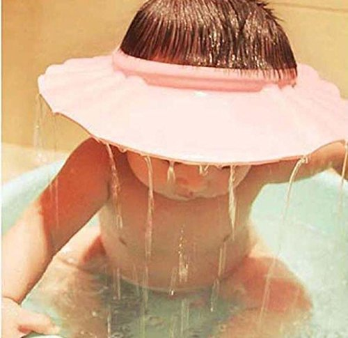 【Liroyal】シャンプーハット 赤ちゃんよう シャワーキャップ子供用 (ピンク)