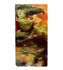 PrintVisa Vintage Art Girl 3D Hard Polycarbonate Designer Back Case Cover for Xiaomi Redmi 1S