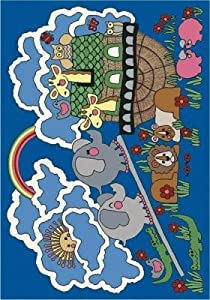 "Faith Based Noah's Ark Kids Rug Rug Size: 3'10"" x 5'4"""