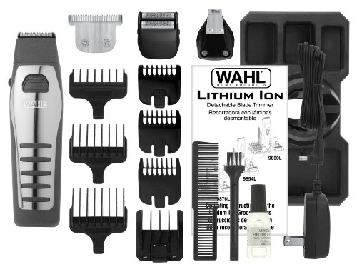 wahl 9876 2001 lithium ion all in one trimmer with. Black Bedroom Furniture Sets. Home Design Ideas