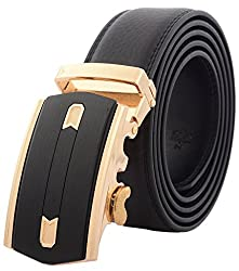 Binlion Frosted Real Leather Belt for Men(110 Black)