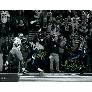 Richard Sherman & Malcolm Smith Seattle Seahawks Autographed 11