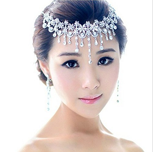 Aukmla Princess Wedding Tiara Set for Bride, Bridal Hair Accessories and Earrings for Women