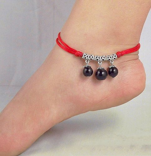 Tibetan Silver Sterling Silver Bangle Anklet Chain Bracelet Jewellery Quality Style NO.3017