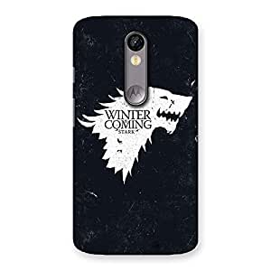 Stylish Comming Of Winter Back Case Cover for Moto X Force