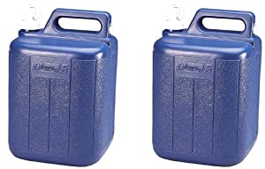 (2) COLEMAN Camping Picnic 5 Gallon Water Carrier Containers w  Spigot & Handle by Coleman
