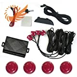51h2D8FU PL. SL160  4 Parking Sensors Car Reverse Backup Radar Sound Alert Buzzer Security carnival red