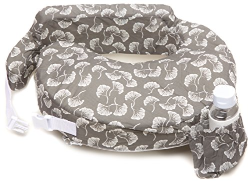 For Sale! Zenoff Products My Brest Friend Nursing Pillow, Flowing Fans, Grey, White