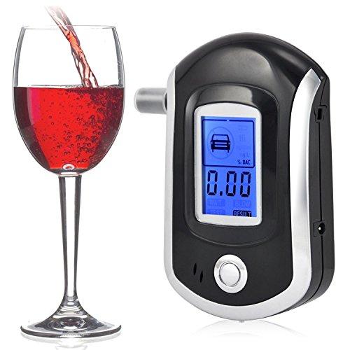 SAVFY® Breath BAT-1 avancée police professionnelle Éthylotest Alcootest numérique alcool testeur Détecteur avec écran LCD