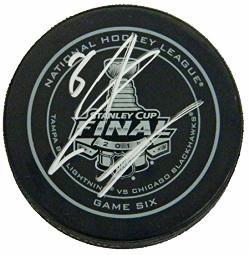 Marcus Kruger Signed Official 2015 Stanley Cup Finals Game Six Hockey Puck