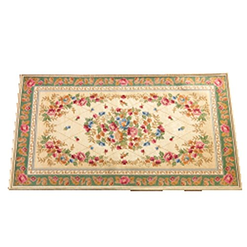 Collections Etc Tiffany Floral Chenille Rug