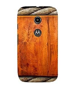 PrintVisa Ropes & Wood Design 3D Hard Polycarbonate Designer Back Case Cover for Motorola Moto E2