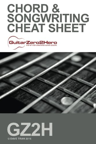 Guitar Chord & Songwriting Cheat Sheet: GuitarZero2Hero (Ultimate Guitar Chord Chart compare prices)