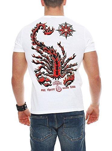 Scorpion Bay uomo maglietta MTBS3182 - cotone, bianco, 100% cotone, Uomo, XL