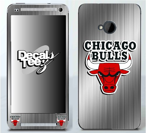 HTC One Chicago Bulls Brushed Aluminum Look Decal Skin By Decals N Tees at Amazon.com
