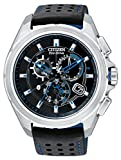 Citizen Proximity Bluetooth Men's Eco-Drive Watch with Black Dial Chronograph Display and Black TPU Strap AT7030-05E