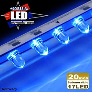"BeamsWork 20"" LED Submersible Power Stripe Light - All Blue"