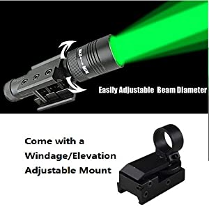 Compact Rifle or Pistol tactical Green Laser Designator Illuminator Weapon Light Picatinny Mount