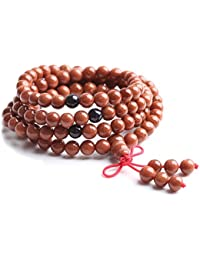 The Art Of Cure (28in) Healing Jewelry & Mala Meditation Beads Goldstone