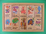 Story Telling Wooden Blocks – 10 Piece Learning Set