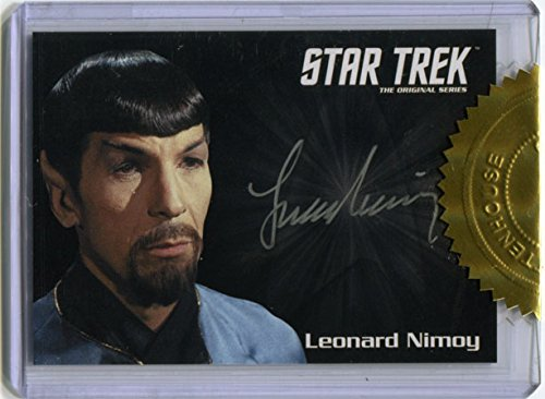 Star Trek TOS 50th Anniversary Autograph Silver Card Mirror Spock Leonard Nimoy
