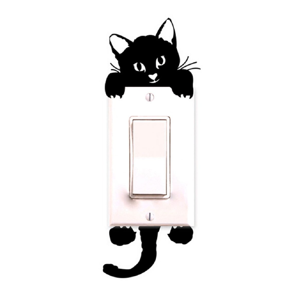Sandistore Cat Wall Stickers Light Switch Decor Decals Art Mural Baby Nursery Room