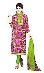 Sagi Women's Cotton Silk Unstitched Dress Material (SDDM-12_Multi_Free Size)
