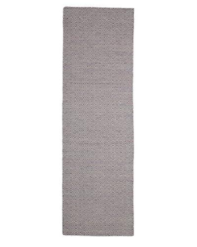 Darya Rugs Flat-weave Oriental Rug, Purple, 2' 6 x 8' 1 Runner