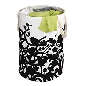 Umbra Crunch Bird Cotton Canvas Round Container