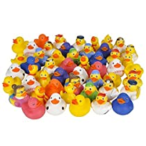 Fun Express Assorted Rubber Ducks - 50 Pieces