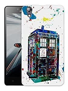 """Humor Gang Dr Who Watercolor Art Printed Designer Mobile Back Cover For """"Lenovo A6000 - A6000 PLUS"""" (3D, Matte, Premium Quality Snap On Case)"""