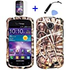 4 items Combo: ITUFFY(TM) Mini Stylus Pen + LCD Screen Protector Film + Case Opener + Wild Outdoor Pond Grass Camouflage Design Rubberized Snap on Hard Shell Cover Faceplate Skin Phone Case for Straight Talk Samsung Galaxy Proclaim 720C SCH-S720C / Verizon Samsung Illusion i110