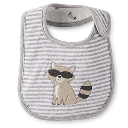 Carter's Reversible Boy's Raccoon Bib Teething and Feeding - 1