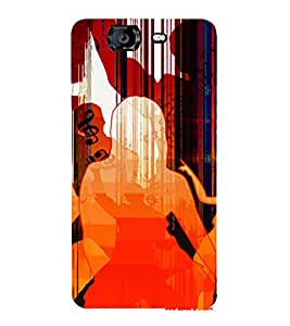 PrintVisa Dance Party Music Art 3D Hard Polycarbonate Designer Back Case Cover for Micromax Knight A350