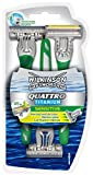 Wilkinson Sword Quattro Titanium Mens Disposable Razors - Pack of 3