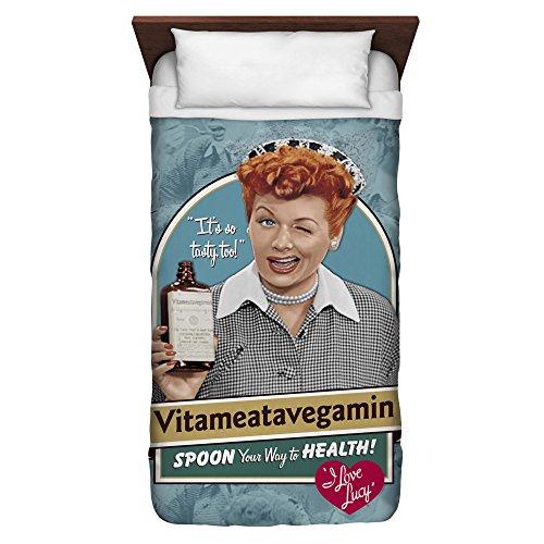 I Love Lucy Vitameatavegamin Twin Duvet Cover White 68X88