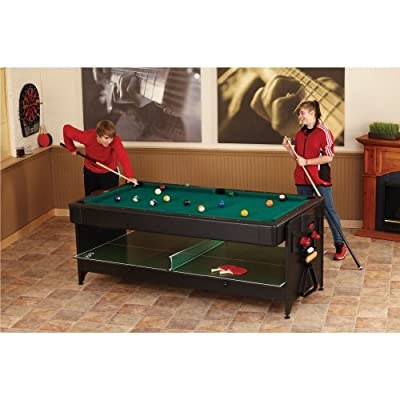 Fat Cat Original 3-in-1, 7-Foot Pockey Game Table (Billiards, Air Hockey and Table Tennis)