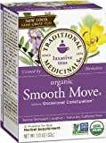 Traditional Medicinals, Organic Smooth Move, Senna Stimulant Laxative, Caffeine Free, 16 Wrapped Tea Bags (6 pack)