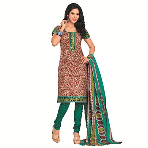 Rajnandini Womens Cotton Unstitched Salwar Suit Dress Material (Joplsf1707 _Multi-Coloured _Free Size)