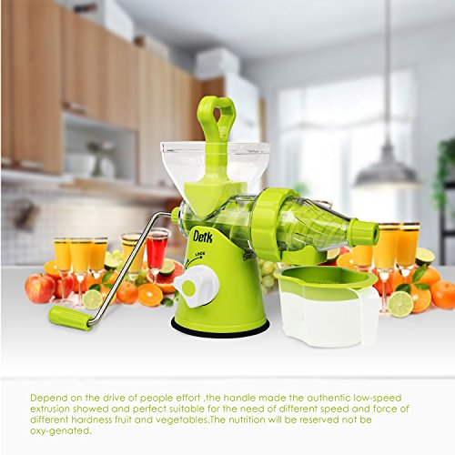 Hand Crank Kitchen Appliances: Deik Manual Hand Crank Single Auger Juicer Suction Base