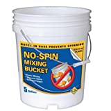 QEP 78211 5-Gallon NO-SPIN Mixing Bucket for Thinset with Grout and Mortar Mixing