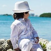 Boy's Long Sleeve Guayabera, size 18 & white.
