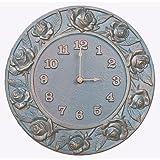 Whitehall Rose Clock French Bronze