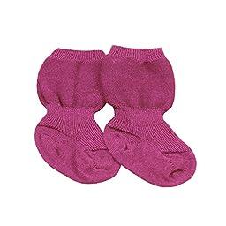 Grödo (Groedo) 100% Organic Merino Wool Baby Infant Socks (1 Pair) Made in Germany (6-9 Months, Lavender)